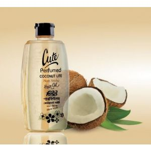 Cute Perfumed Coconut Lite Hair Oil - 330ml