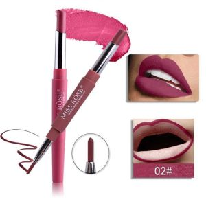 MISS ROSE 2 IN 1 Waterproof Matte Lip Liner With Lipstick - Shade 2